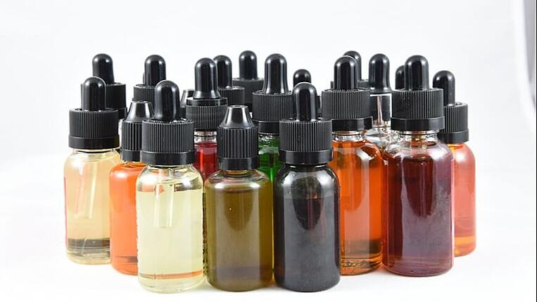 E-juice in bottles