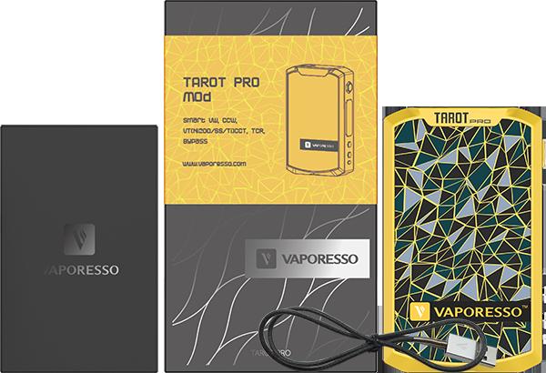 inside the tarot pro vape mod box