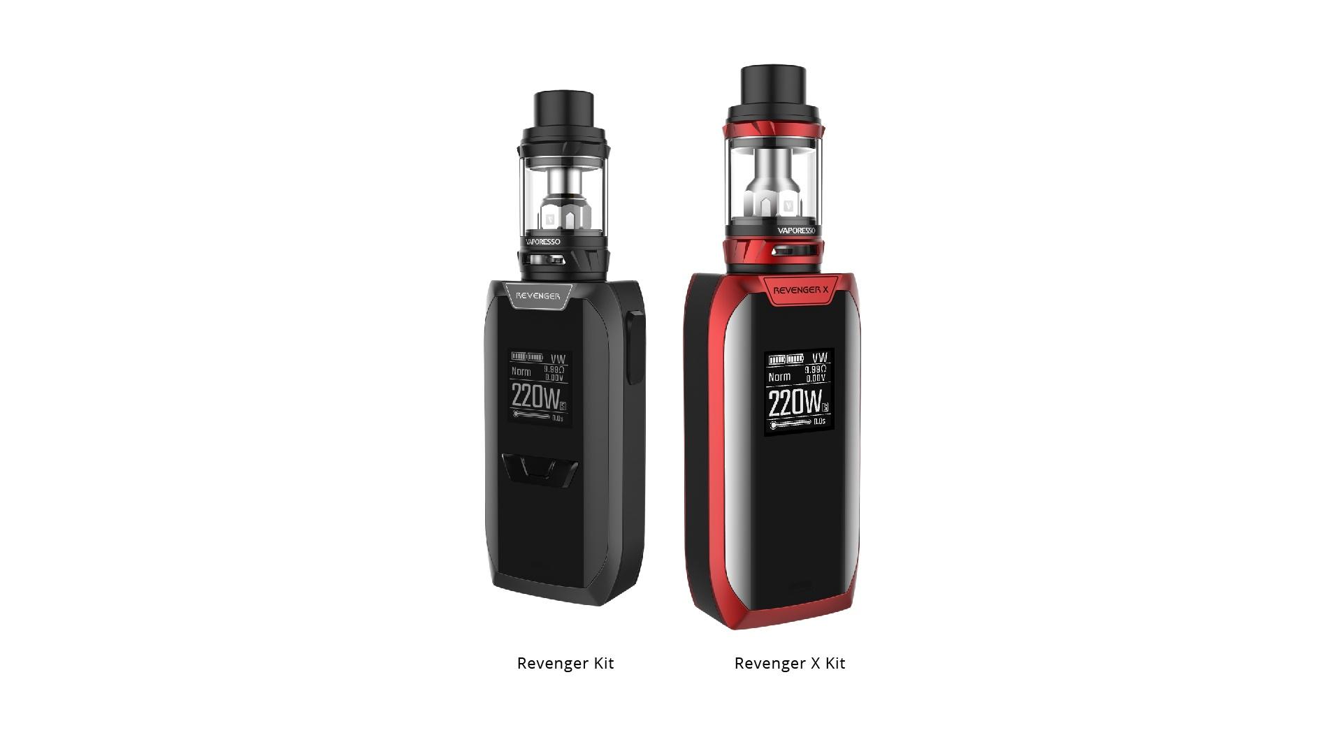 Forskjell mellom Revenger og Revenger X e-sigarett sett