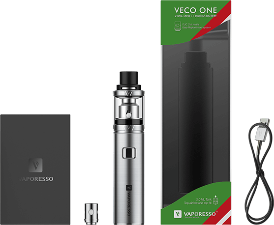 Inside the VECO one vape kit box