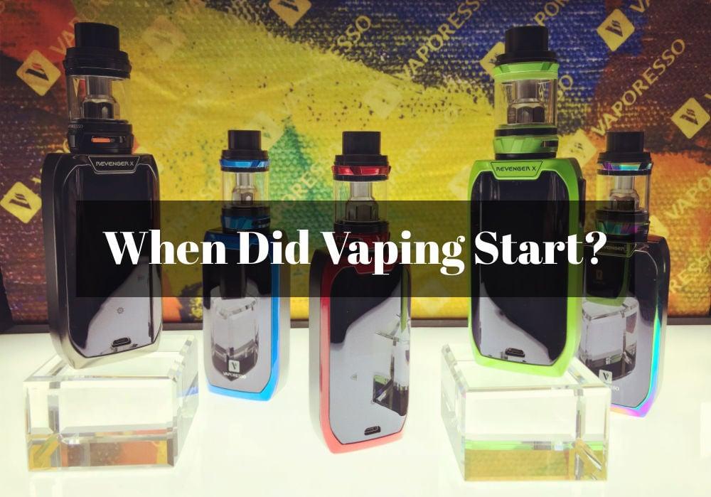 when-did-vaping-start