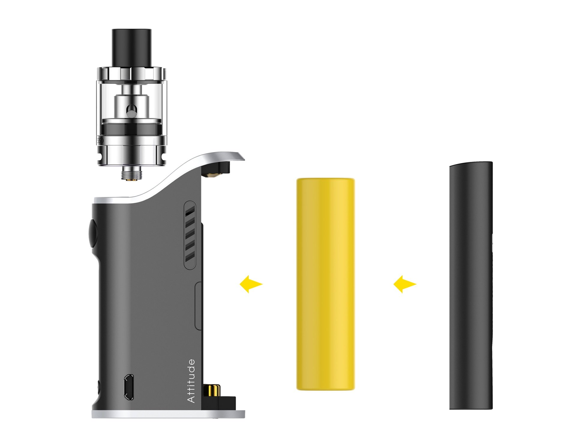 Vaporesso Attitude 80W TC & Estoc 2mL/4mL 2-in-1 EUC Starter Kit