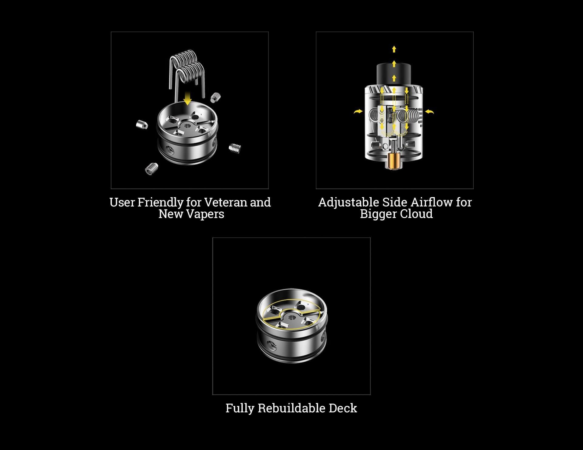 transformer RDA atomizer