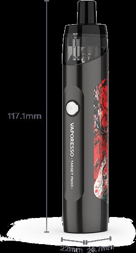 Dimensions du mod pod Target PM30 de Vaporesso.