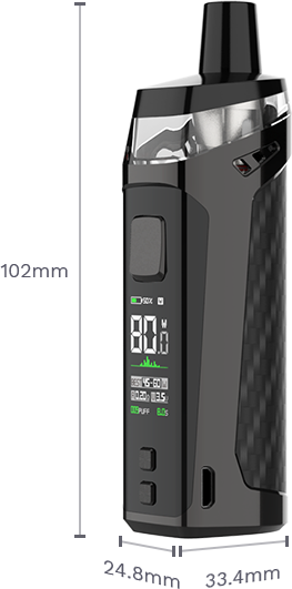 Vaporesso Target PM80 Dimensions