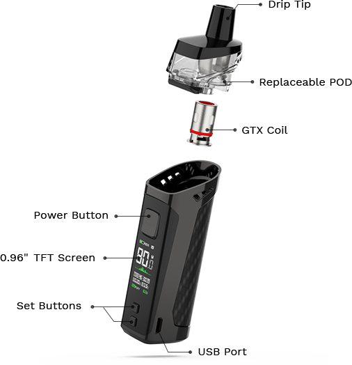 Vaporesso Target PM80 Exploded_view